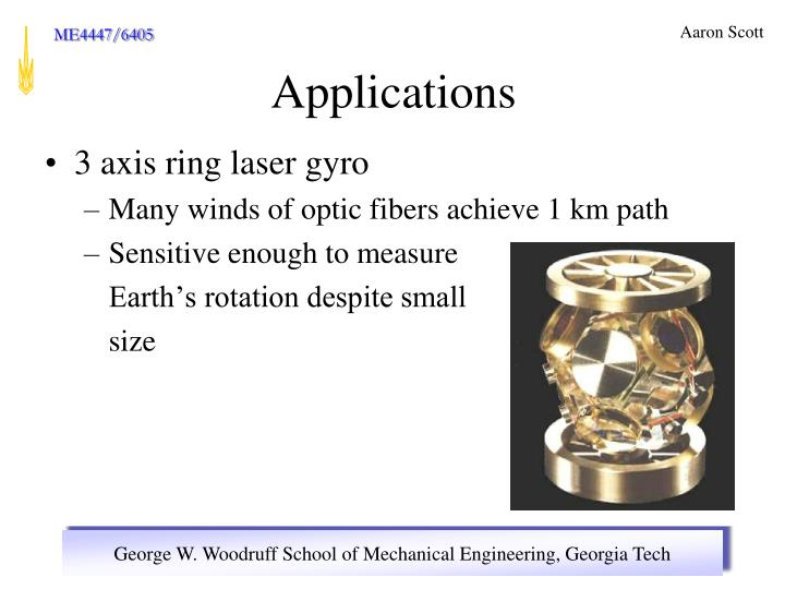 3 axis ring laser gyro