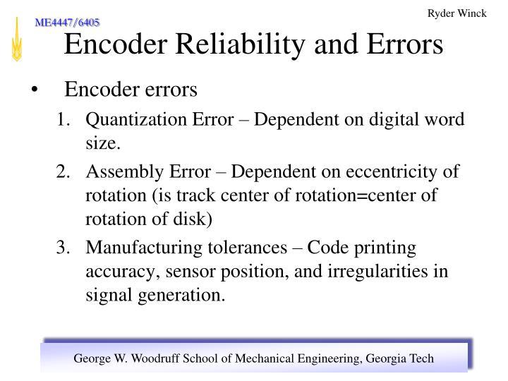 Encoder errors