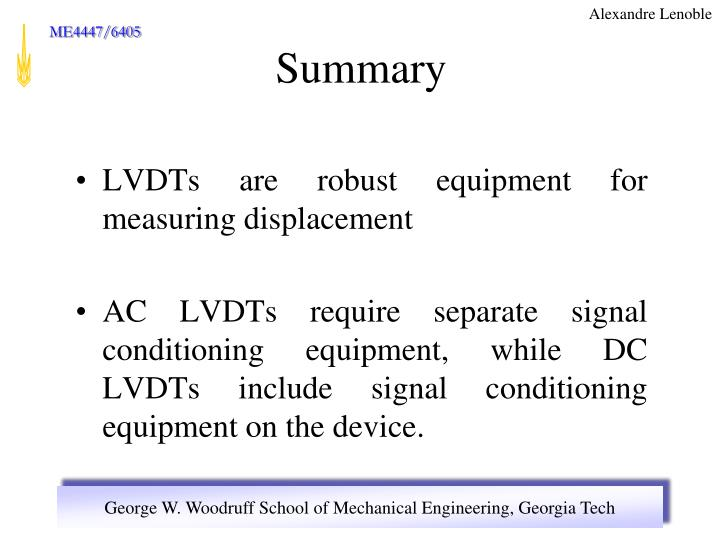 LVDTs are robust equipment for measuring displacement