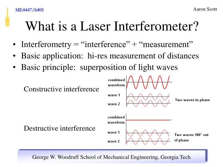 """Interferometry = """"interference"""" + """"measurement"""""""