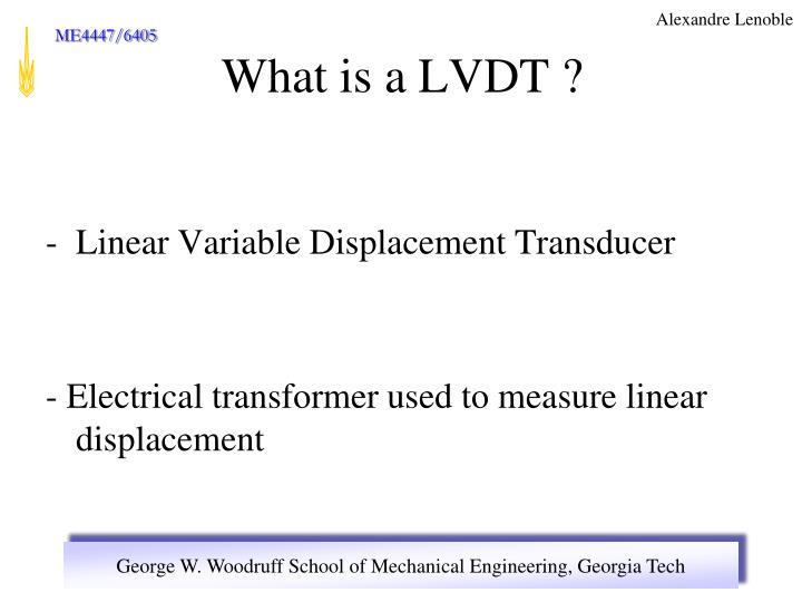 Linear Variable Displacement Transducer