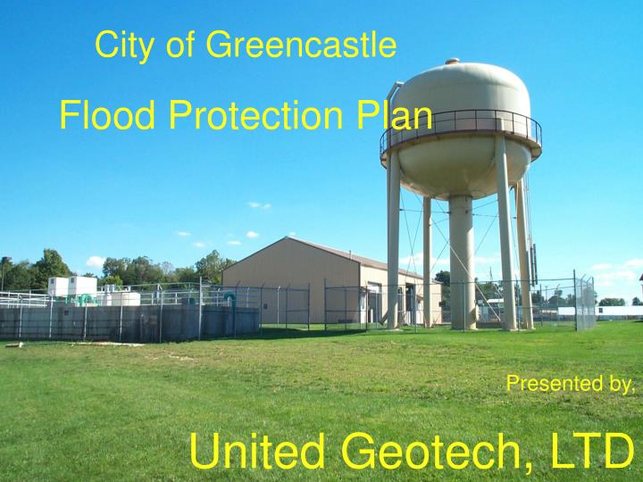 City of greencastle flood protection plan