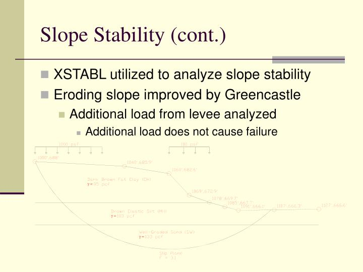 Slope Stability (cont.)