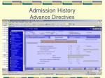 admission history advance directives
