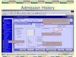 admission history