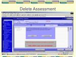 delete assessment
