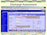 discharge assessment