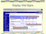 display vital signs