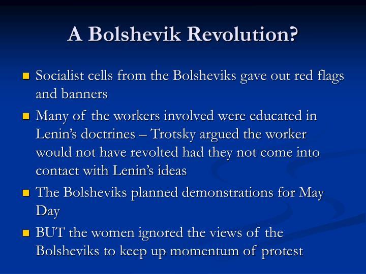 A Bolshevik Revolution?