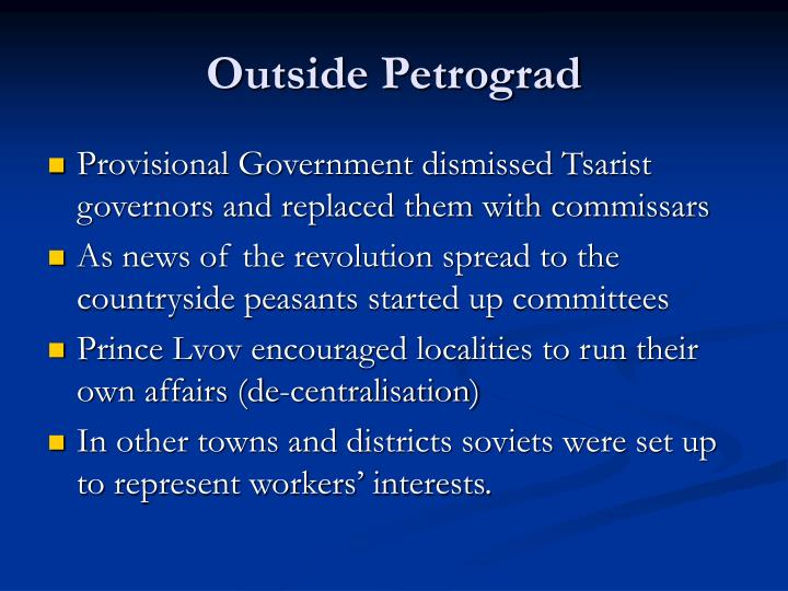 Outside Petrograd