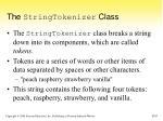 the stringtokenizer class