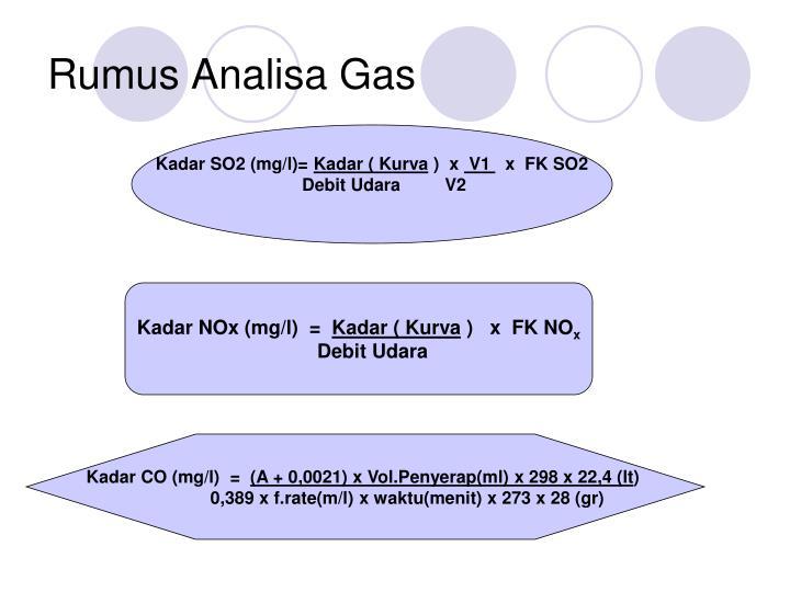 Rumus Analisa Gas