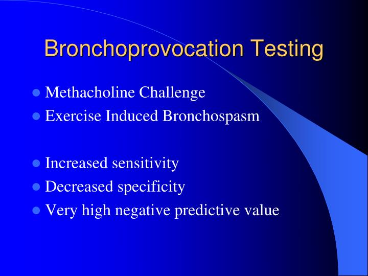 Bronchoprovocation Testing