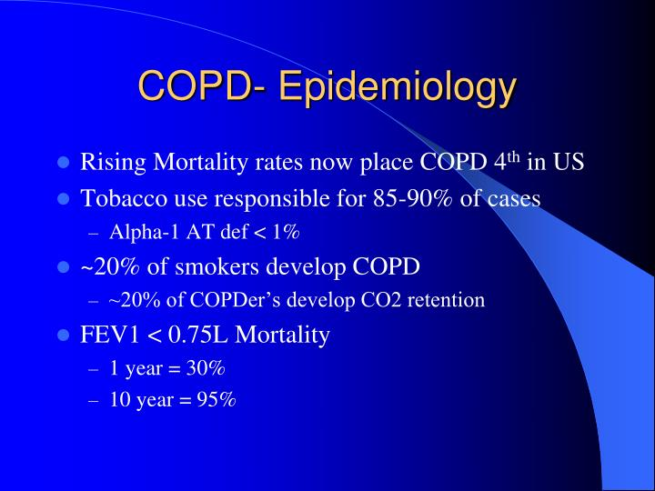 COPD- Epidemiology