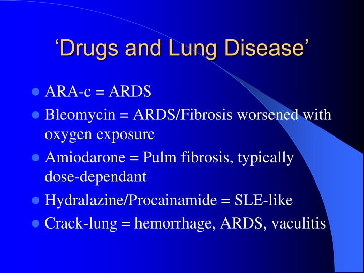 'Drugs and Lung Disease'