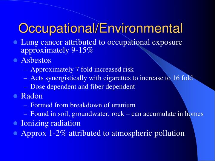 Occupational/Environmental
