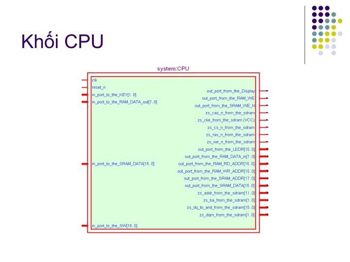 Khối CPU