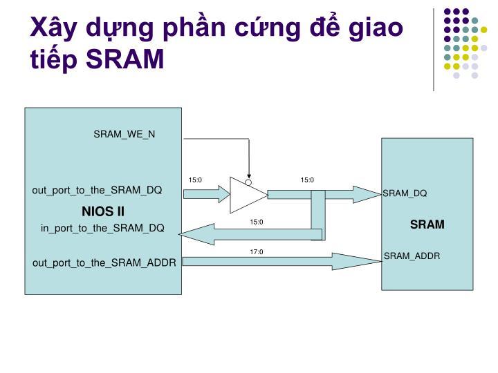 Xây dựng phần cứng để giao tiếp SRAM
