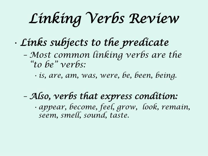 Linking Verbs Review