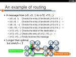 an example of routing