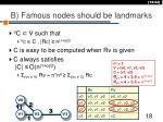 b famous nodes should be landmarks