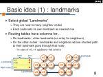 basic idea 1 landmarks