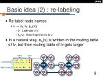 basic idea 2 re labeling