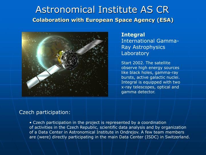 Astronomical institute as cr2