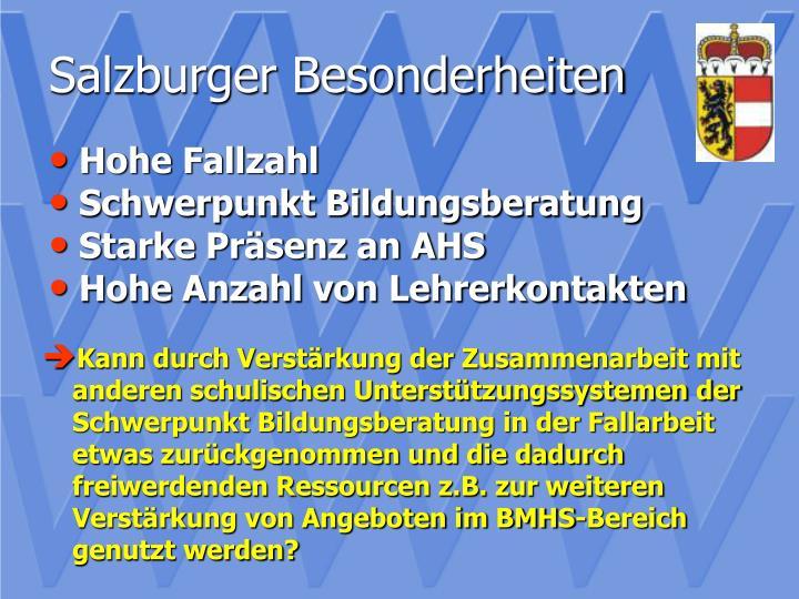Salzburger Besonderheiten
