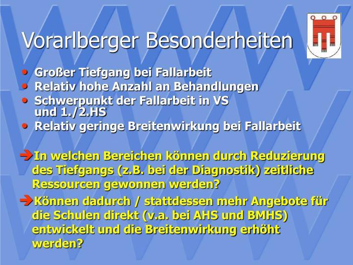 Vorarlberger Besonderheiten