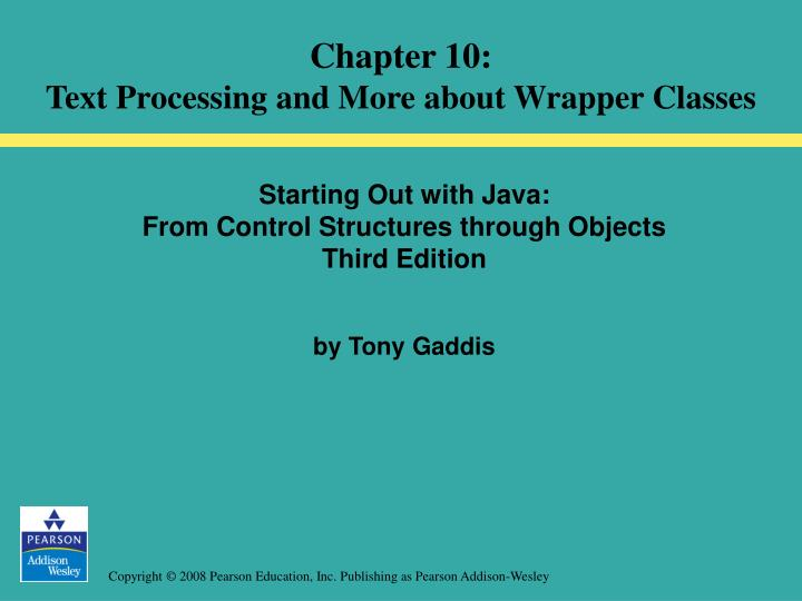 Starting out with java from control structures through objects third edition by tony gaddis