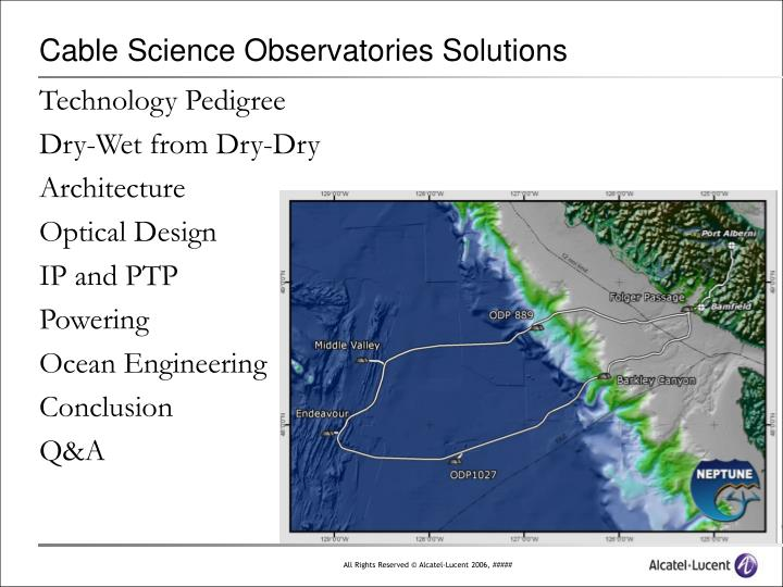 Cable science observatories solutions