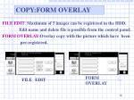 copy form overlay