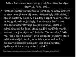 arthur ransome report r pro list guardian lond n ter 11 jna 19211