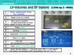 lv volumes and ef biplane lvad ap 2 mod