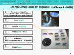 lv volumes and ef biplane lvas ap 4 mod1