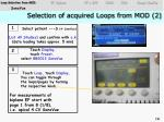 selection of acquired loops from mod 21