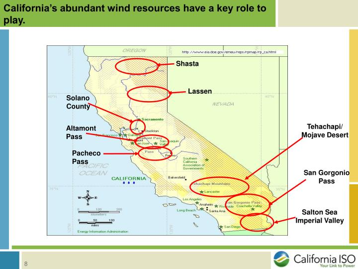 California's abundant wind resources have a key role to play.