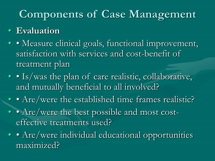 Components of Case Management