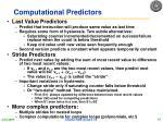 computational predictors
