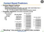 context based predictors