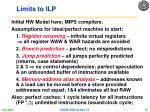 limits to ilp1