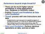 performance beyond single thread ilp