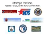 strategic partners federal state and county government