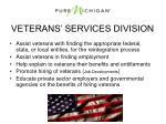 veterans services division