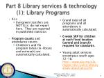 part 8 library services technology 1 library programs