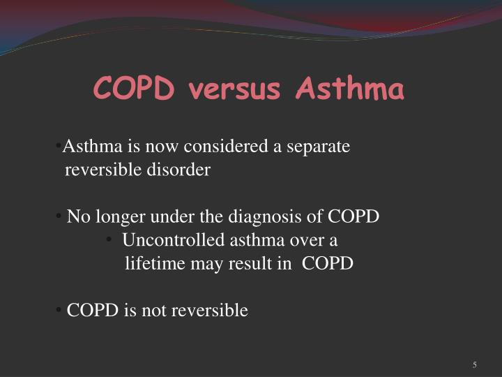 COPD versus Asthma