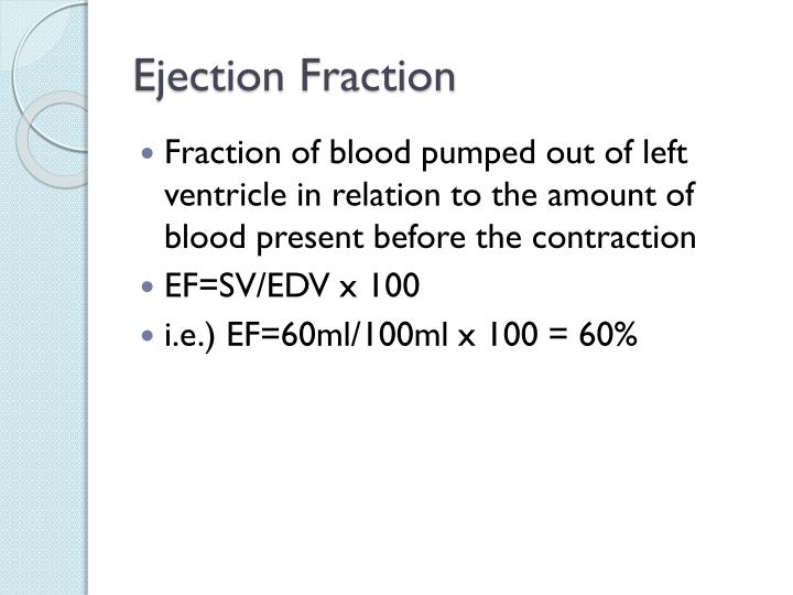 Ejection Fraction
