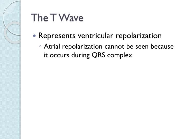 The T Wave