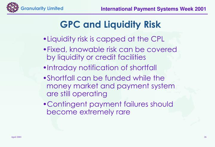 GPC and Liquidity Risk
